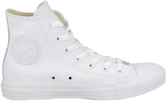 converse all stars wit leer hoog 93d34a