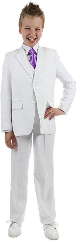 Luxe kinder kostuum wit-146/152