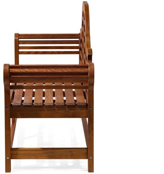 Beliani Tuinbank hout 180 cm met grafiet kussen TOSCANA MARLBORO