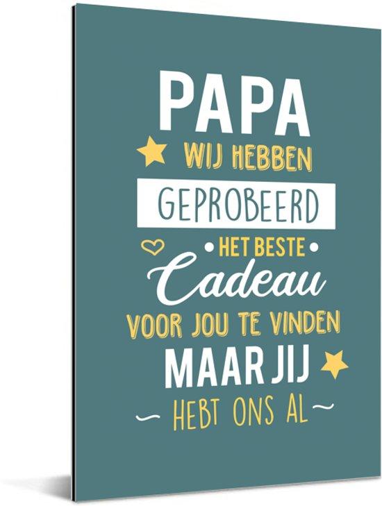 Bolcom Cadeau Voor De Leukste Vader Papa Jij Hebt Ons