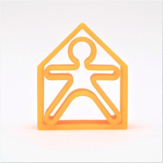Dëna bijtring - 1 kind + 1 huis - neon oranje