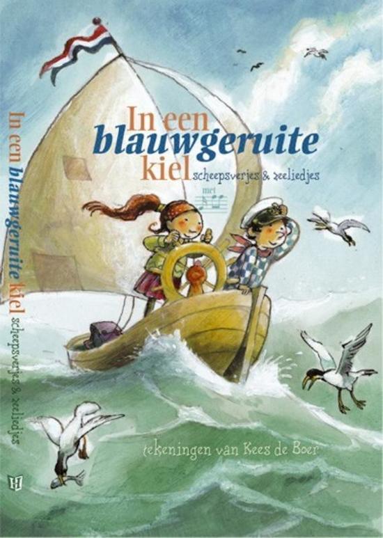Cover van het boek 'In een blauwgeruite kiel' van  Onbekend