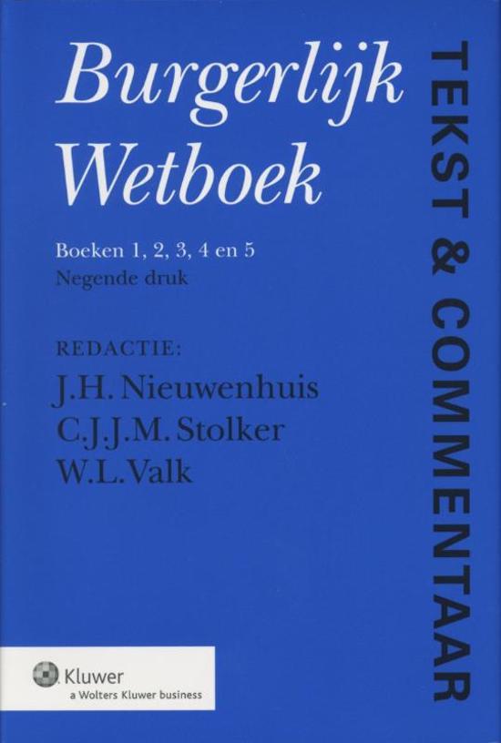 Boek cover Tekst & commentaar burgerlijk wetboek van Nvt. (Hardcover)