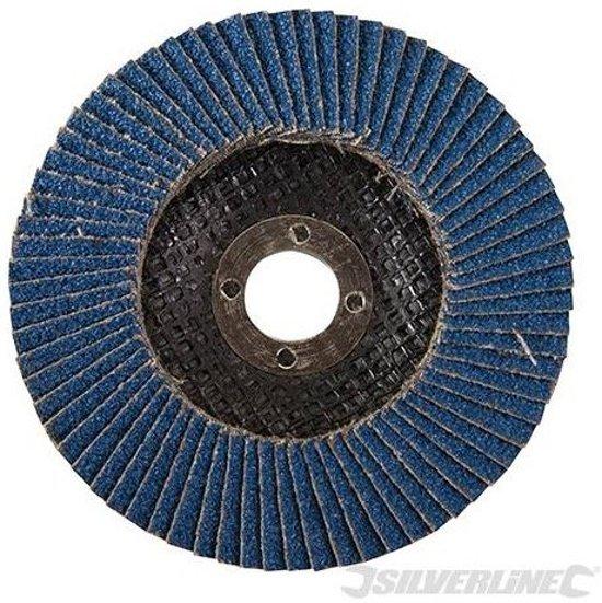 Silverline Zirkonium lamellenschijf 100 mm, 40 korrelgrofte