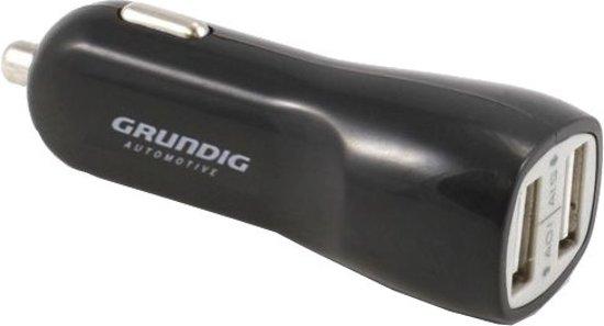 Grundig Autolader Usb 12/24 Volt 1/2,1 Ampère Zwart