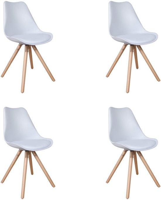 Feel Furniture - Olan designstoel set 4 - Wit