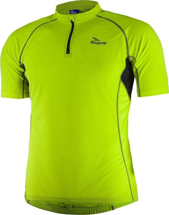 Rogelli Perugia Jersey SS - Fietsshirt - Korte Mouw - Maat XXL - Geel/Zwart