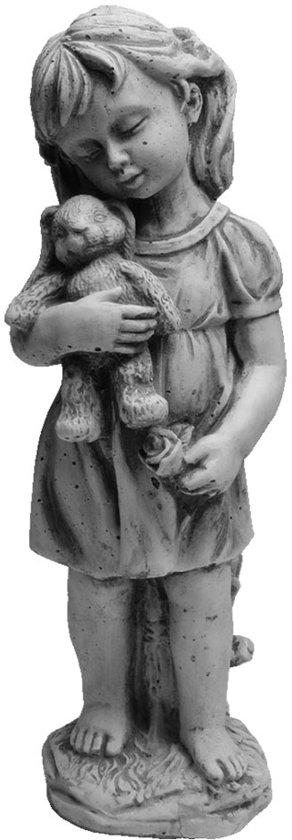 Beeldje meisje met konijn betonnen tuinbeeld   GerichteKeuze