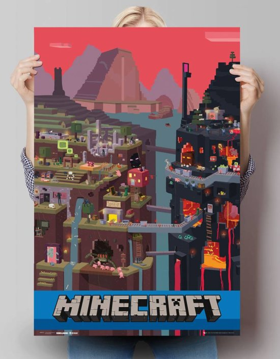Reinders Poster Minecraft - Poster - 61 × 91,5 cm - no. 23617