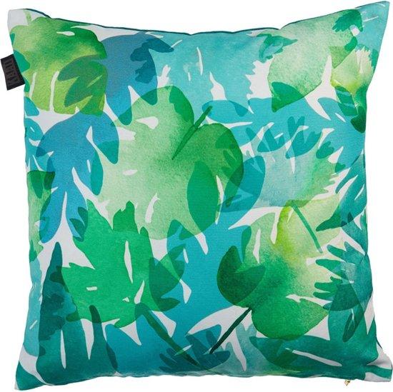 KAAT Amsterdam Tropical Plants - sierkussen - 45x45 cm - Blauw Groen