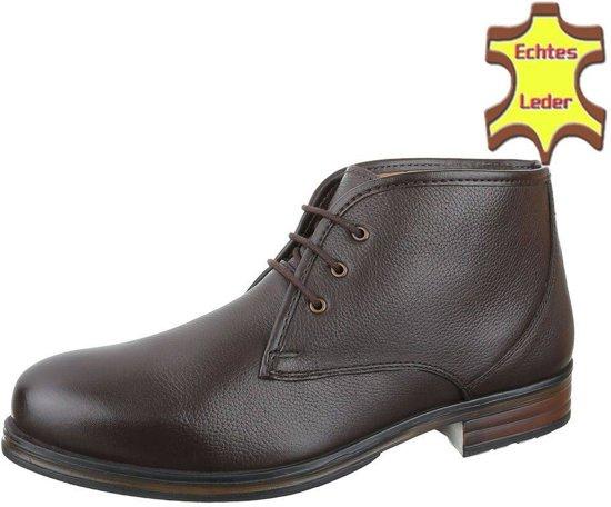 0020619f85eff9 bol.com | Heren Leren casual boot Van COOLWALK Bruin