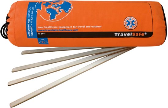 Travelsafe Mosquitonet - Pyramide - Tropenproof - 1-2 Persoons