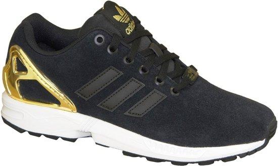 adidas zx flux zwart met goud