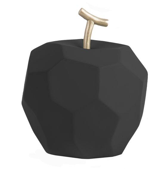 pt, (Present Time) Origami Appel - Decoratief beeld - Beton - Ø11cm - Zwart (mat)