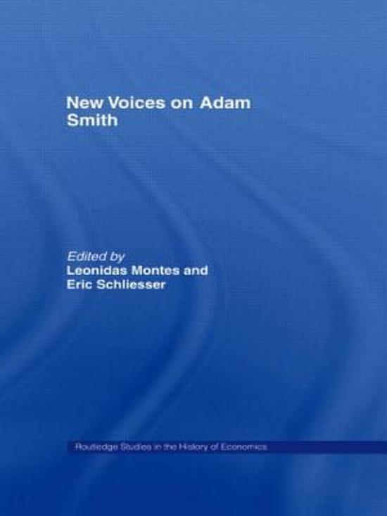 New Voices on Adam Smith