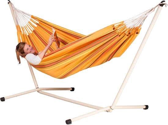Hangmatset: 2-persoons hangmat CURRAMBERA apricot + 2-persoons hangmat Standaard NEPTUNO