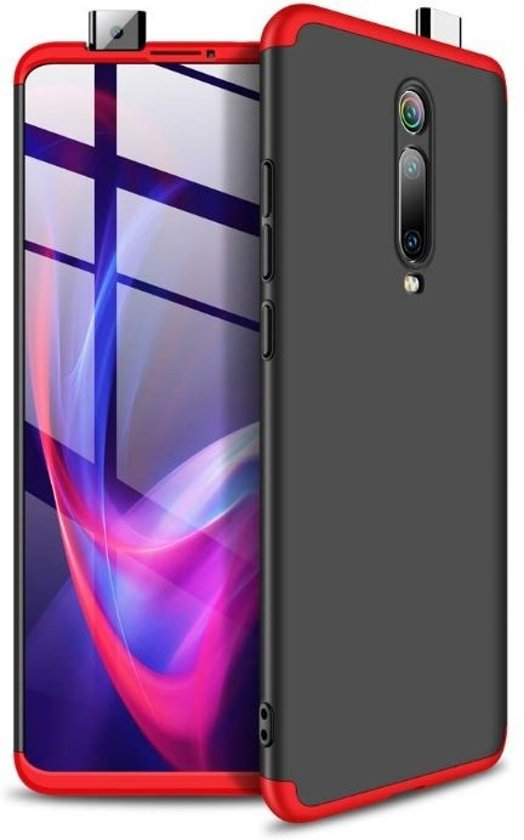Teleplus Xiaomi Mi9T Case 360 Ays Hard Rubber Cover Mixed Color + Nano Screen Protector hoesje