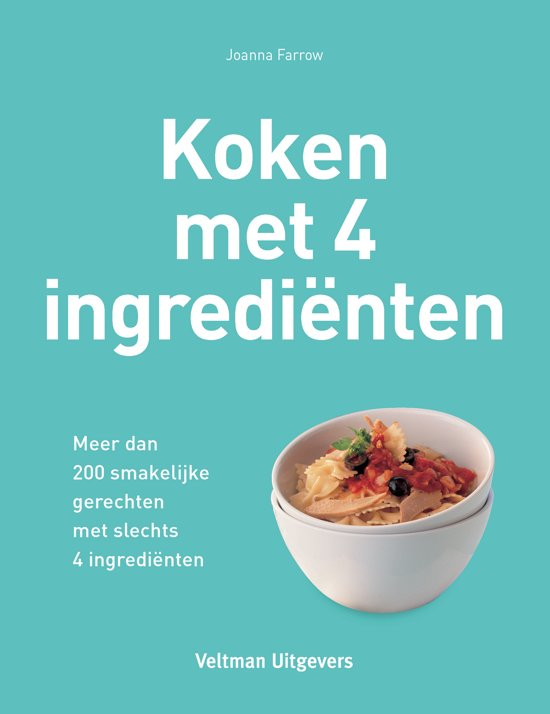 Boek cover Koken met 4 ingredienten van Joanna Farrow (Hardcover)