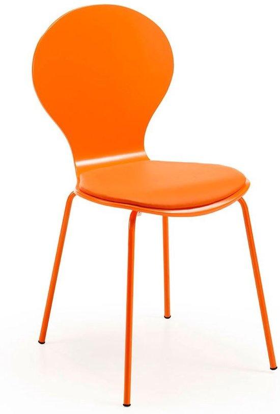 LaForma Jazz - Stoel - Oranje - Set van 4