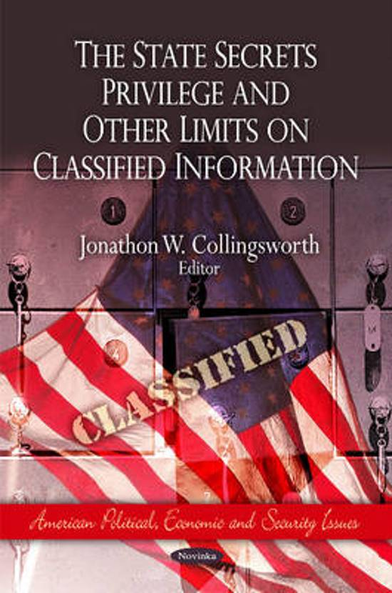 State Secrets Privilege & Other Limits on Classified Information