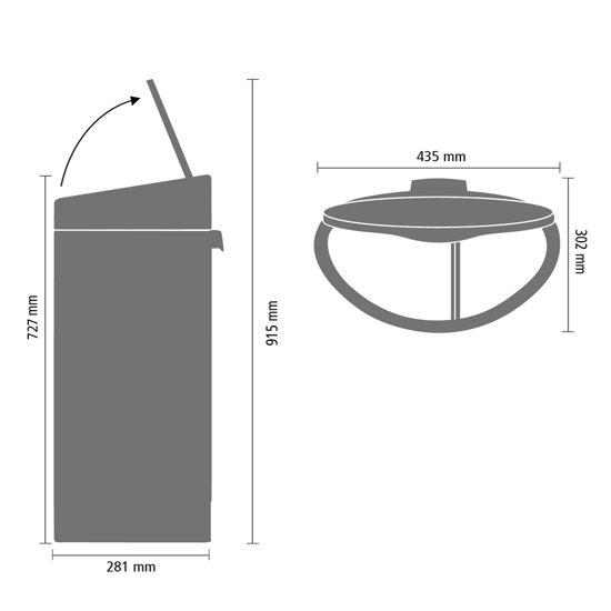 Brabantia Touch Bin Recycle Afvalemmer 33 Liter (10+23 L)