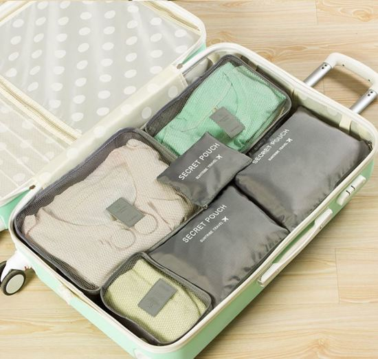 Packing cubes set - koffer of tas organizer - inpak zakken