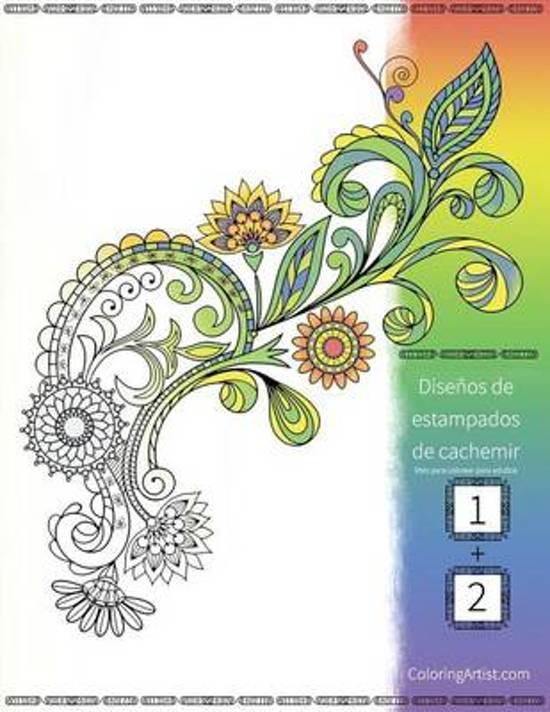 bol.com | Dise os de Estampados de Cachemir Libro Para Colorear ...