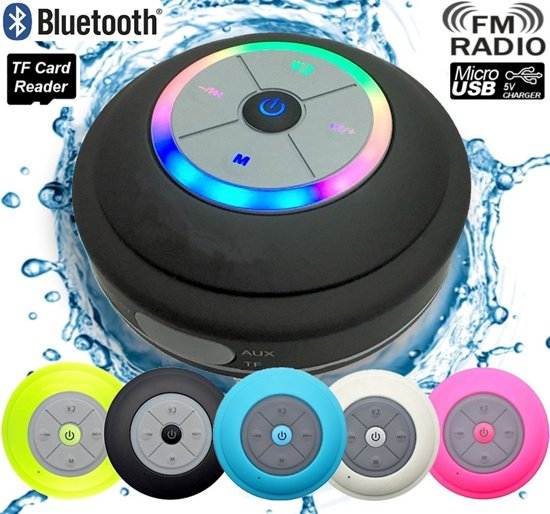 bol.com | Waterdichte Bluetooth Speaker - Zwart