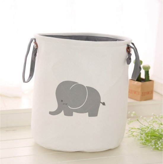 Container - Tas - Wasmand - Speelgoed mand - Olifant