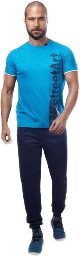 Embrator Huispak / Trainingsset shirt & broek blauw maat XL 659