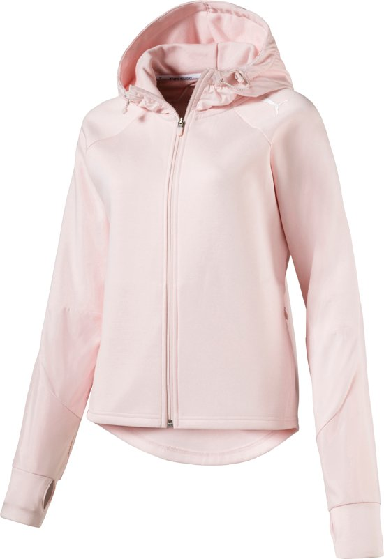 a4425ccb bol.com | PUMA EVOSTRIPE FZ Jacket Hoodie Dames - Pearl