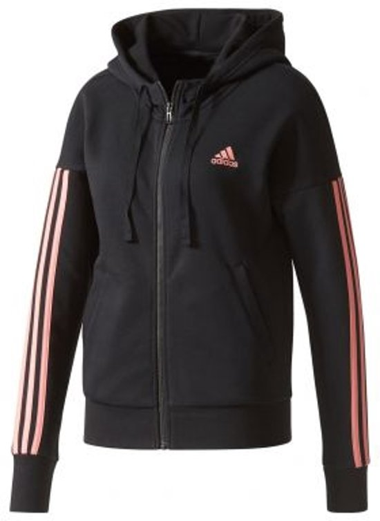 2e5f88121b7 bol.com | adidas - Essentials 3-Stripes Full Zip Hood - Dames - maat L