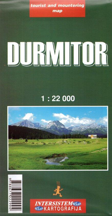Wandelkaart Durmitor, Montenegro cover
