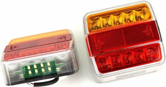 Led Lampen Aanhangwagen : Bol aanhangwagen achterlicht vierkant led cm