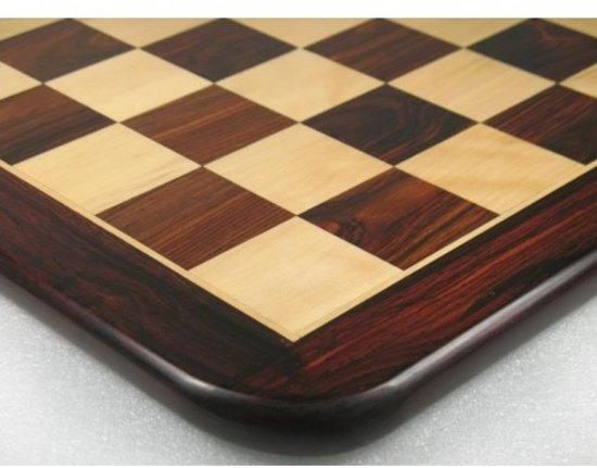 Afbeelding van het spel Luxe rozenhouten schaakbord - 51 cm x 51 cm