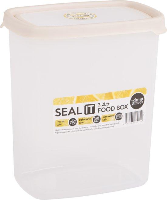 Wham Seal It Vershouddoos - Rechthoekig - 3,2 Liter - Set van 2 Stuks - Creme