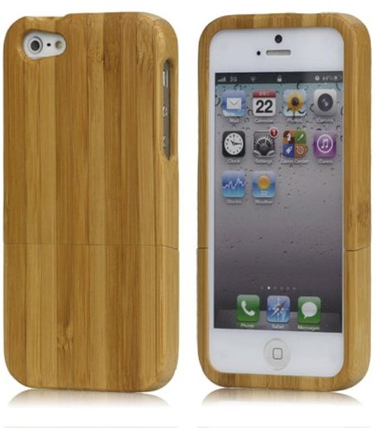 05151449c98768 GadgetBay Bamboe houten hoesje iPhone 5 5s SE Hard case hout Wood cover