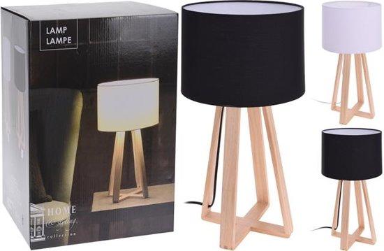Design Tafel Lamp : Bol design tafellamp met houten voet