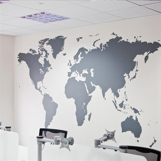 wereld kaart muur sticker xxl wereldbol poster wereldmap world map. Black Bedroom Furniture Sets. Home Design Ideas