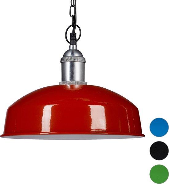 relaxdays - hanglamp ijzer met ketting - modern - verschillende kleuren - lamp