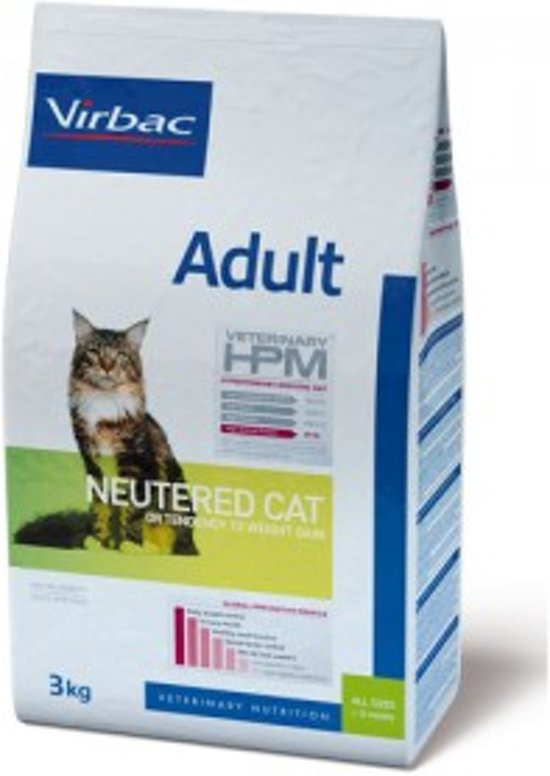 Virbac HPM Veterinary Adult Neutered Cat - Kattenvoer - 3 kg
