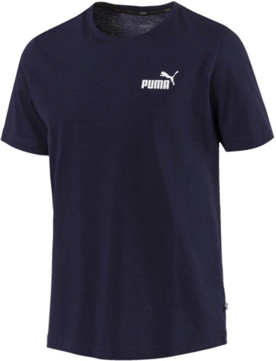 PUMA Ess Small Logo Tee Shirt Heren - Peacoat