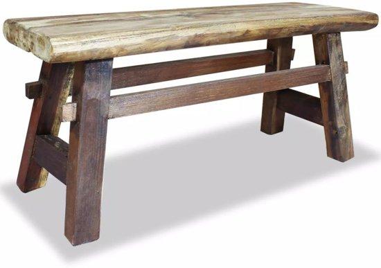 bol | bankje eettafelbankje halbankje bank hout massief