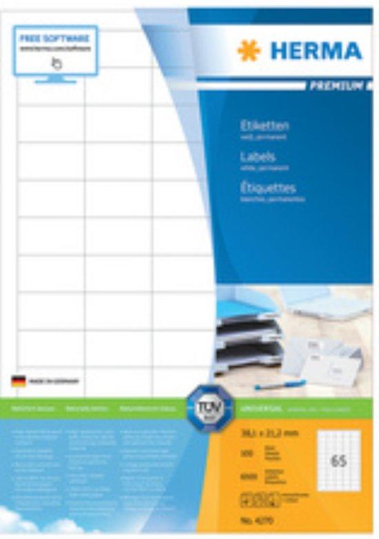 HERMA Etiketten Premium A4 wit 70x297 mm Papier 300 St.
