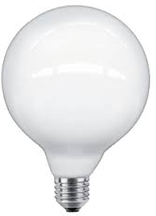 Bedwelming bol.com | Gloeilicht LED lamp 8W grote fitting E27 Opaal/Melkglas RO81