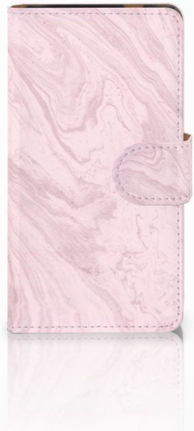 HTC Desire 601 Bookcase Marble Pink
