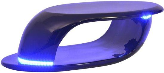 vidaxl salontafel met led verlichting glasvezel hoogglans zwart