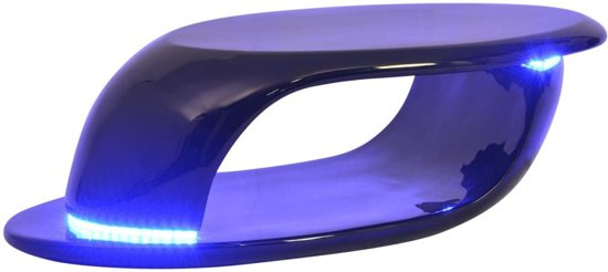 bol.com | vidaXL Salontafel met LED-verlichting glasvezel hoogglans ...
