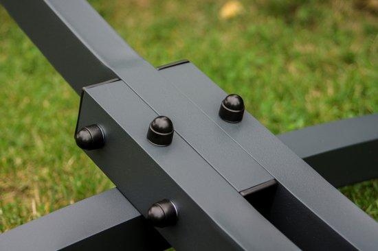 Potenza Grande- Tweepersoons hangmatstandaard inclusief hangmatbevestingsset (zwart)