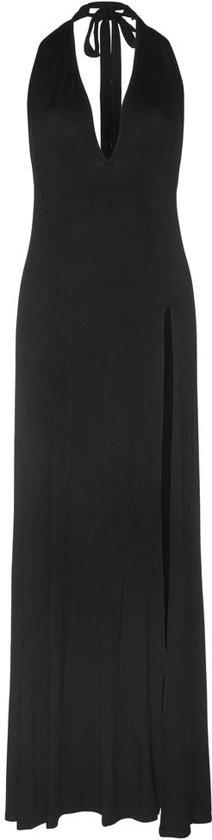 lange zwarte jurk split